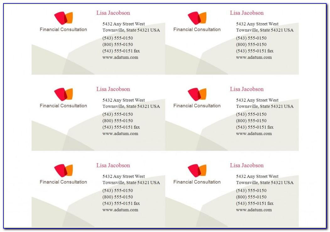 Free Avery Templates Business Cards 8371