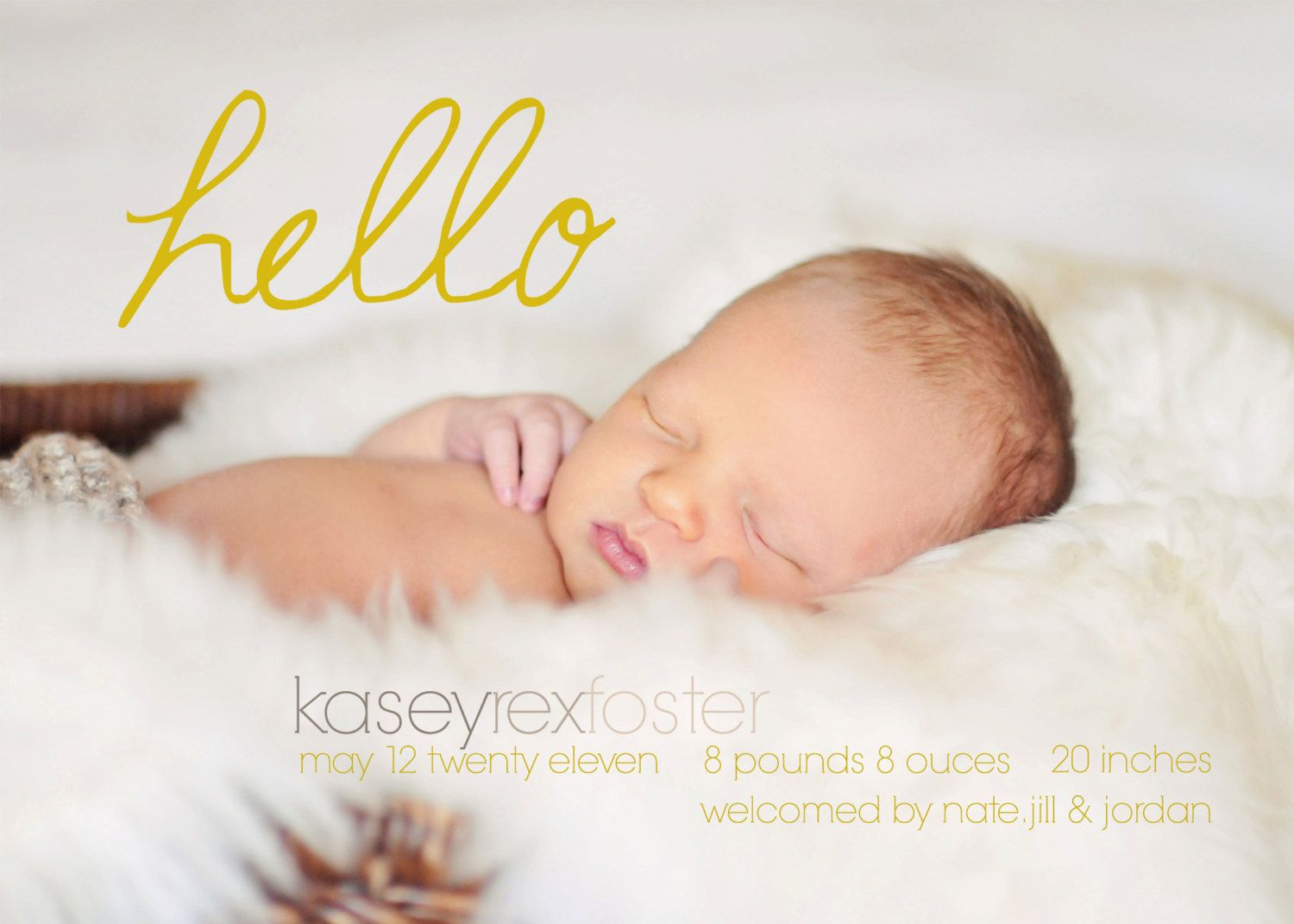 Free Baby Announcement Templates