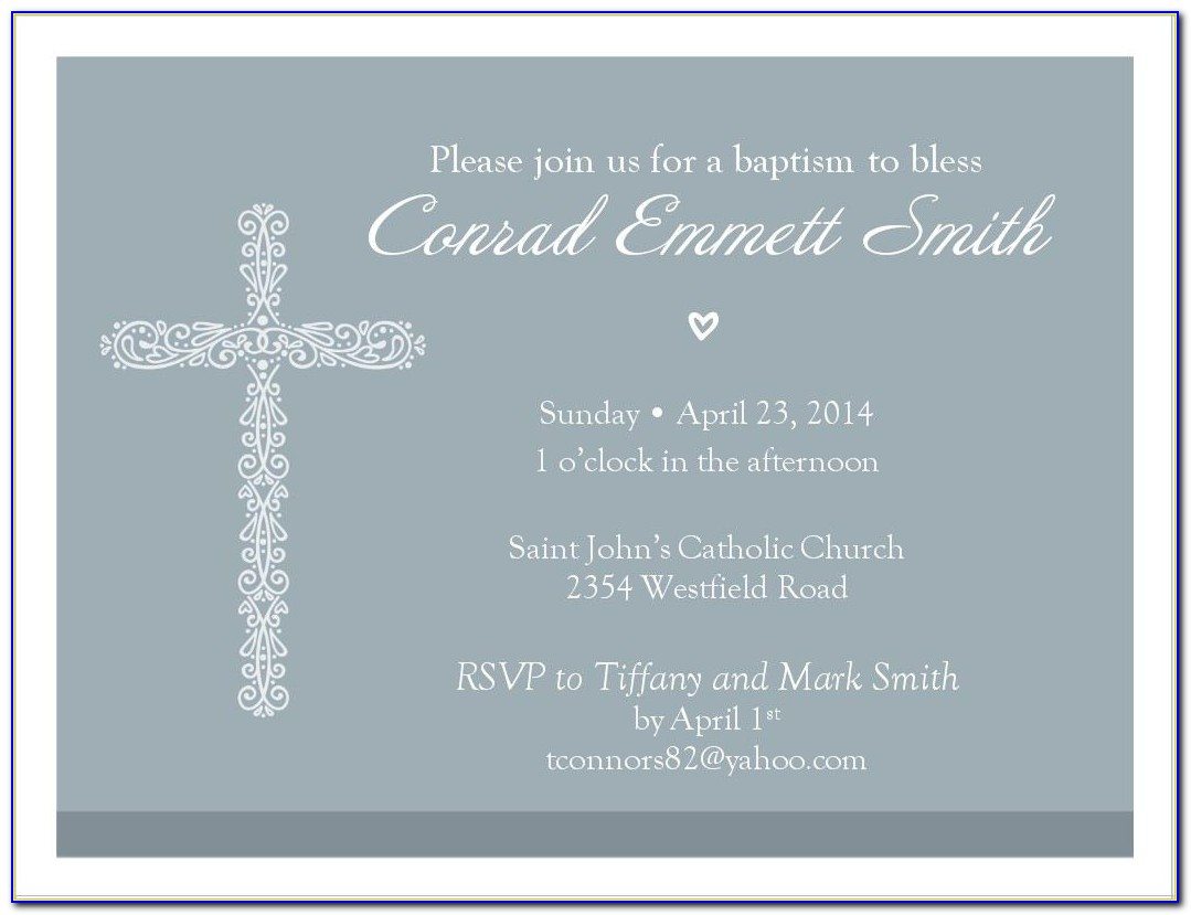 Free Baptism Invitation Templates For Word