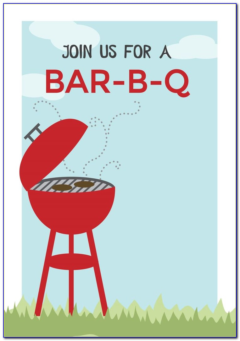 Free Bbq Invitation Templates For Word
