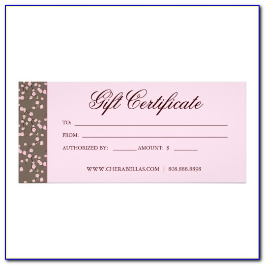 Free Beauty Salon Gift Certificate Templates