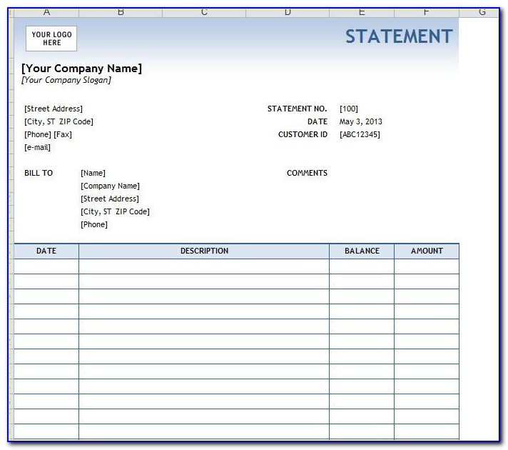 Free Billing Statement Forms