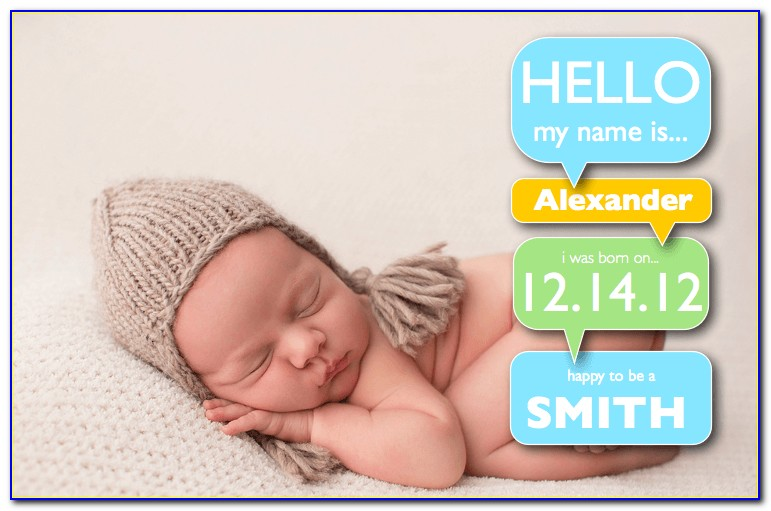 Free Birth Announcement Template Svg