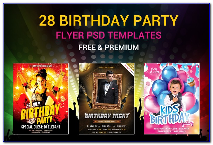 Free Birthday Flyer Design Templates