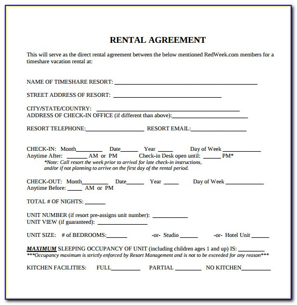 Free Blank Lease Agreement Forms To Print