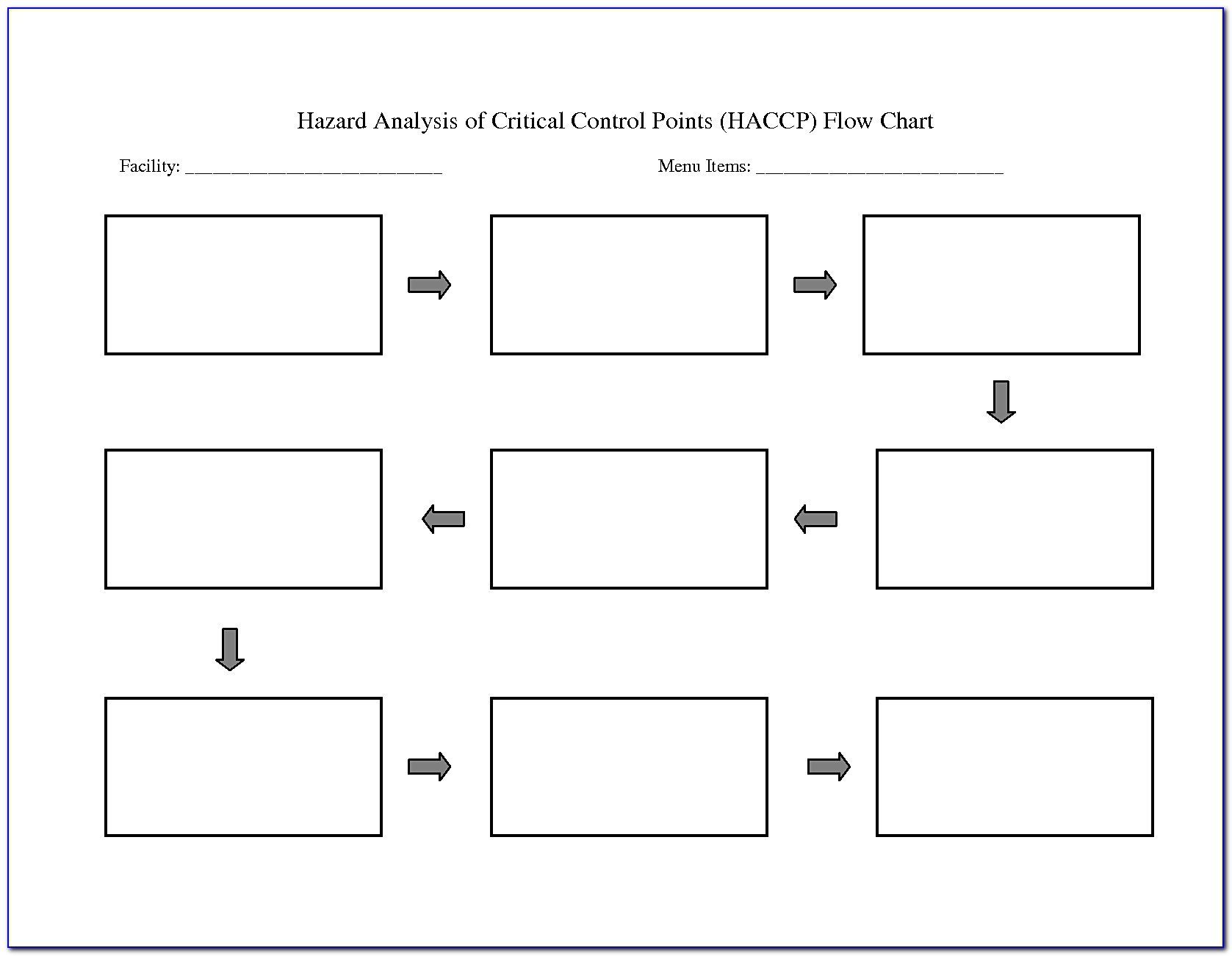 Free Blank Process Flow Chart Template For Word