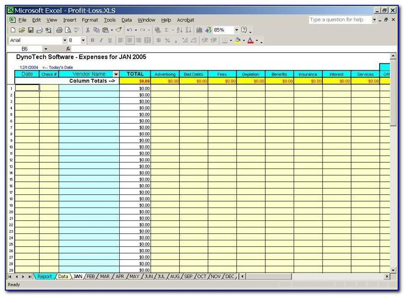 Free Bookkeeping Spreadsheets For Self Employed