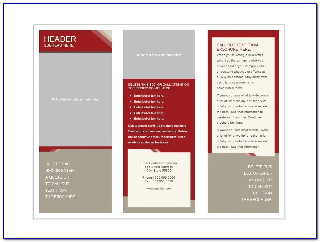 Free Brochure Templates For Word Download