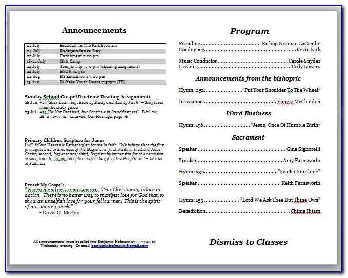Free Bulletin Templates Microsoft Word