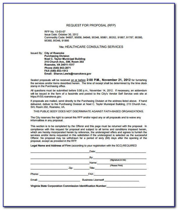 Free Business Consulting Proposal Template