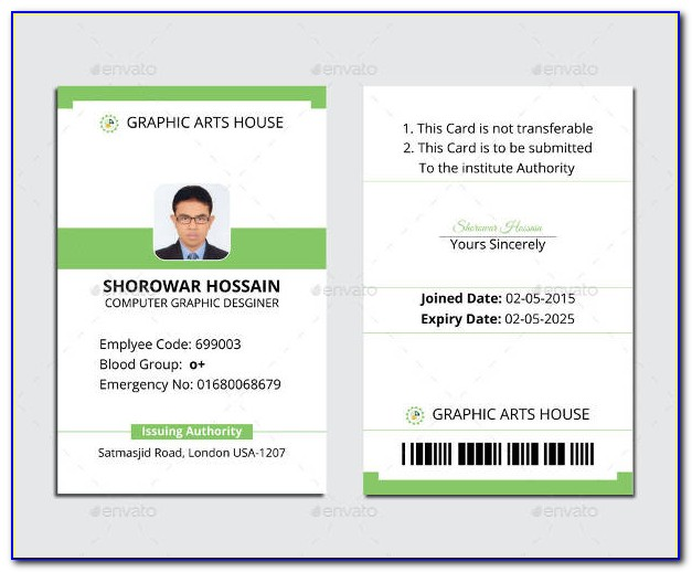 Free Business Id Card Templates