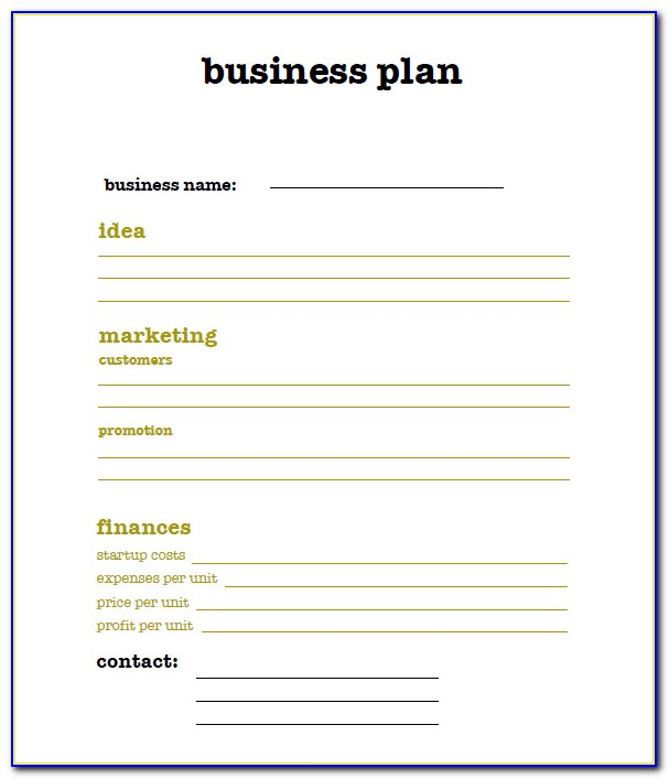 Free Business Plan Template Doc