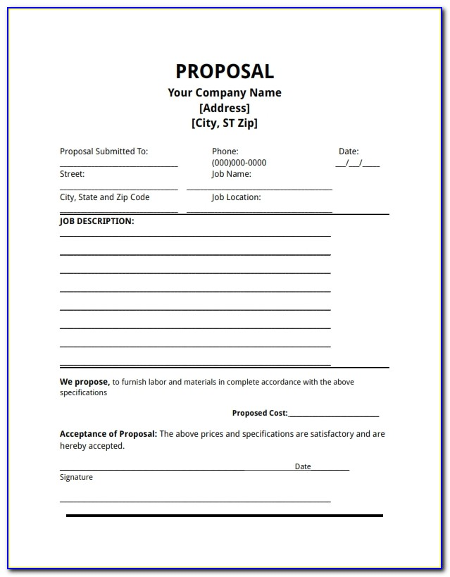 Free Business Proposal Template Ms Word
