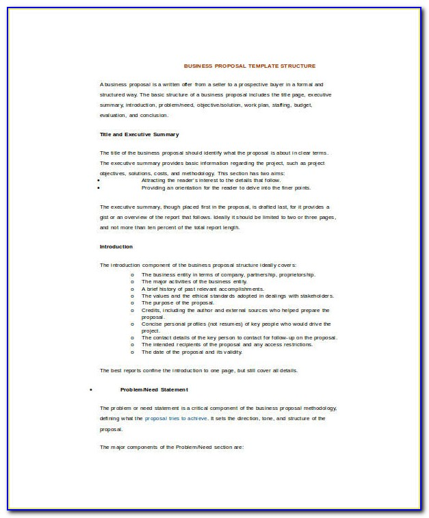 Free Business Proposal Template Psd