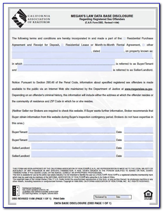 Free California Residential Lease Agreement Form