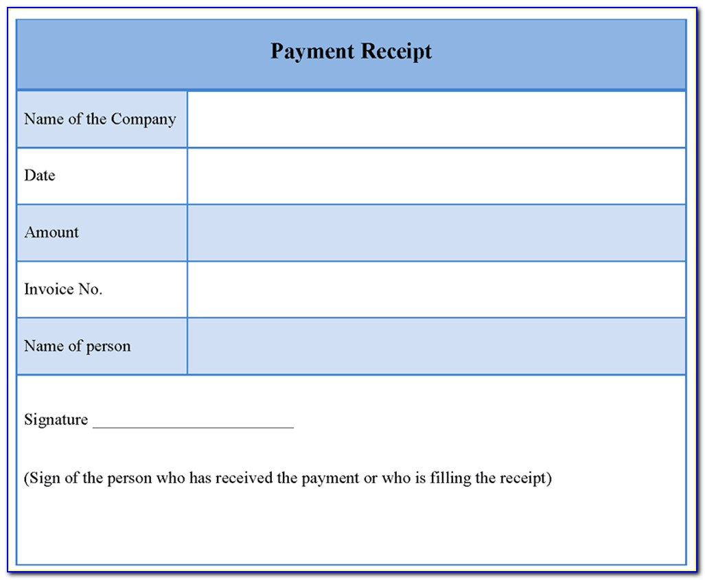 Free Cash Receipt Template Word