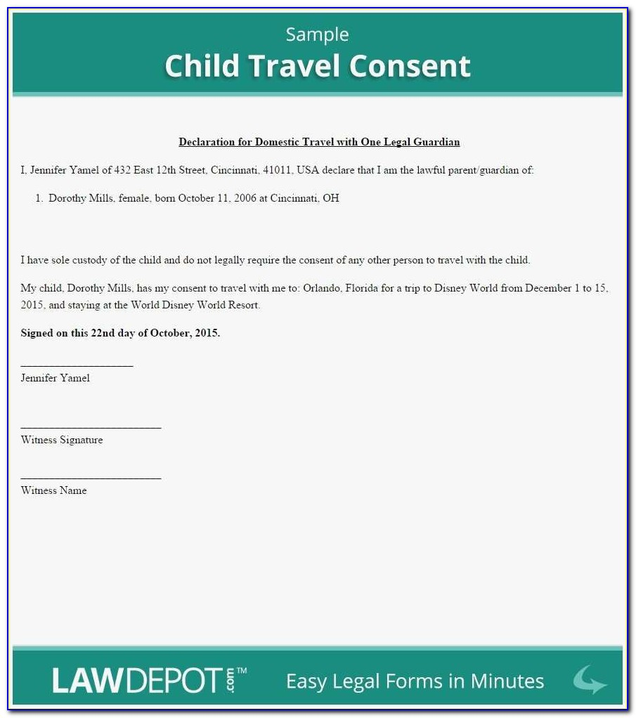 Free Template For Child Travel Consent Form Elegant Child Travel Consent Letter Template Uk