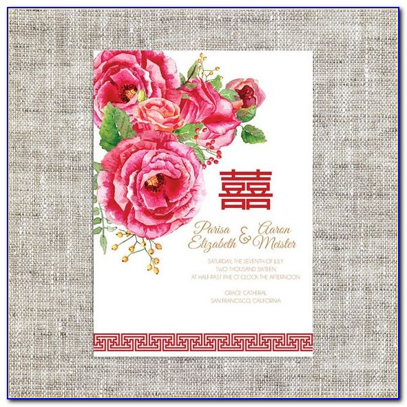 Free Chinese Wedding Invitation Card Template