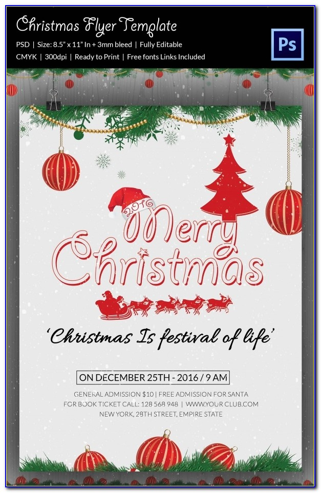 Free Christmas Flyer Template Downloads