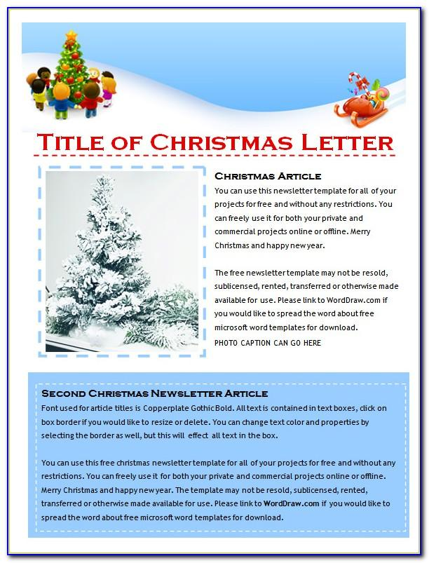 Free Christmas Newsletter Templates For Microsoft Word
