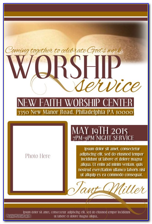 Free Church Flyer Templates For Ministry Events
