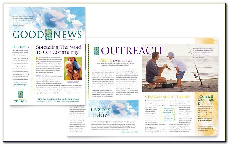 Free Church Newsletter Templates Microsoft Word