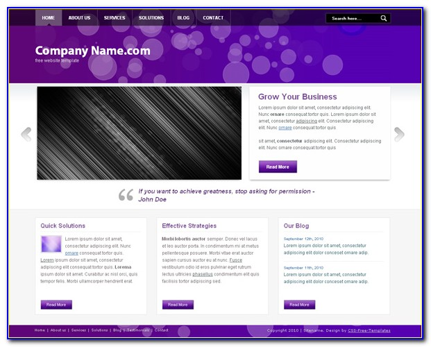 Free Church Website Templates Bootstrap