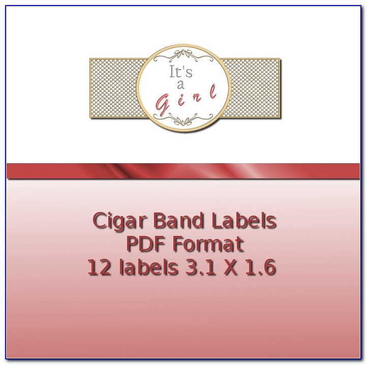 Free Cigar Band Template For Soap Label