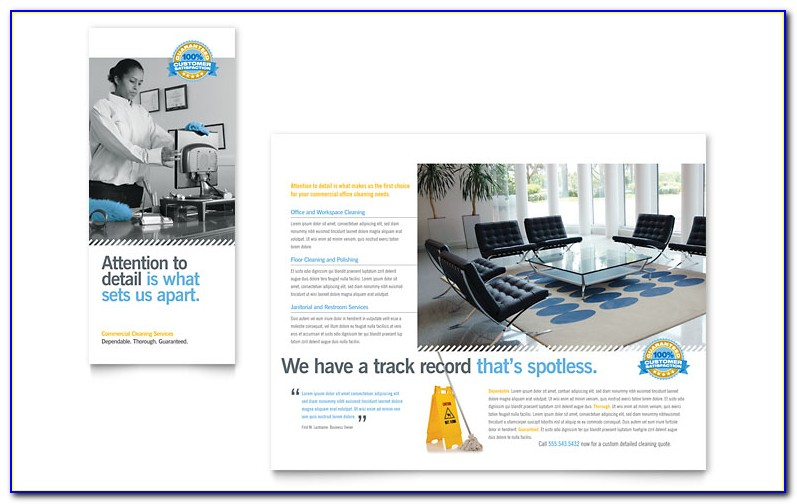 Free Cleaning Service Brochure Templates