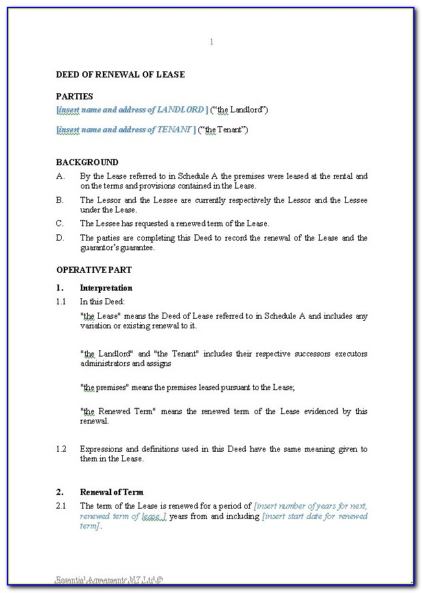 Free Commercial Lease Agreement Template Download Nsw
