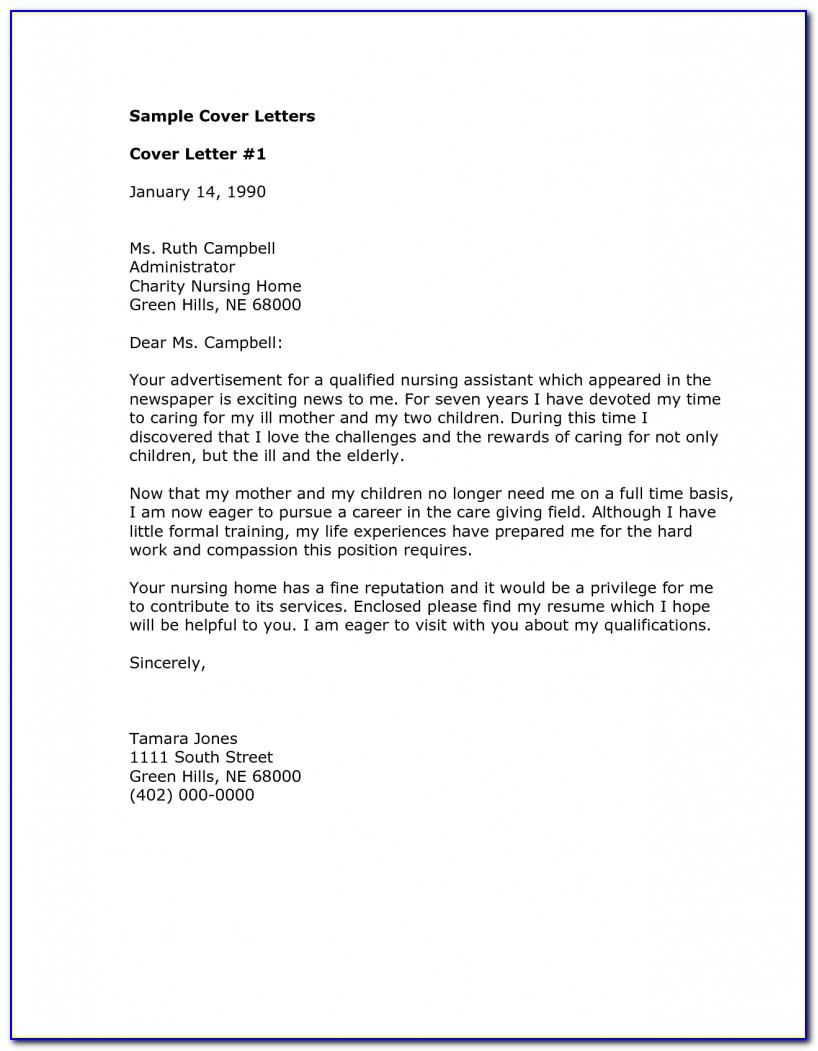 Free Cover Letter Examples Medical Office Assistant