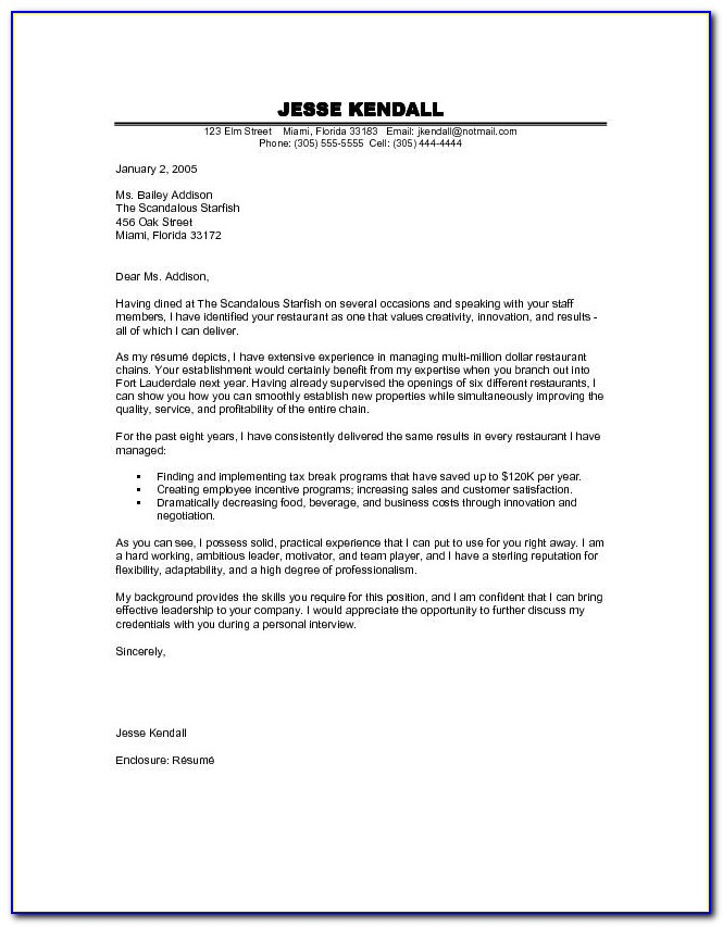 Free Cover Letter Format Download