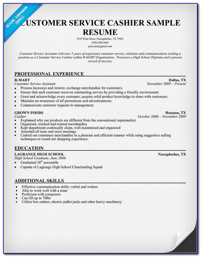 Free Customer Service Resume Templates For Word