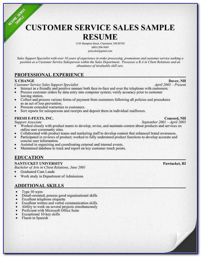 Free Customer Service Supervisor Resume Samples