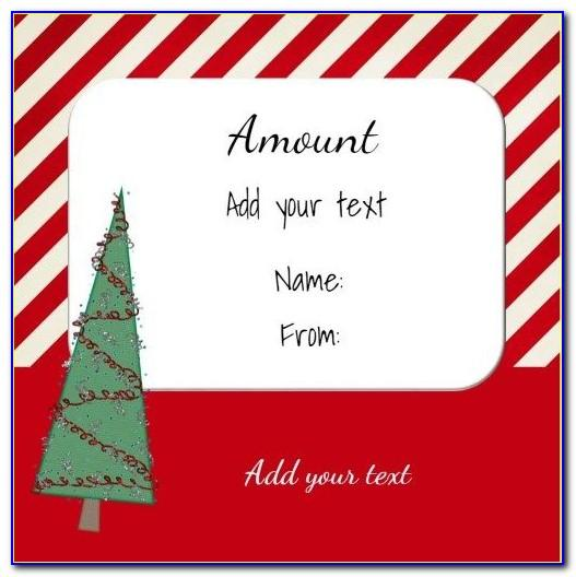 Free Customizable Christmas Gift Certificate Template