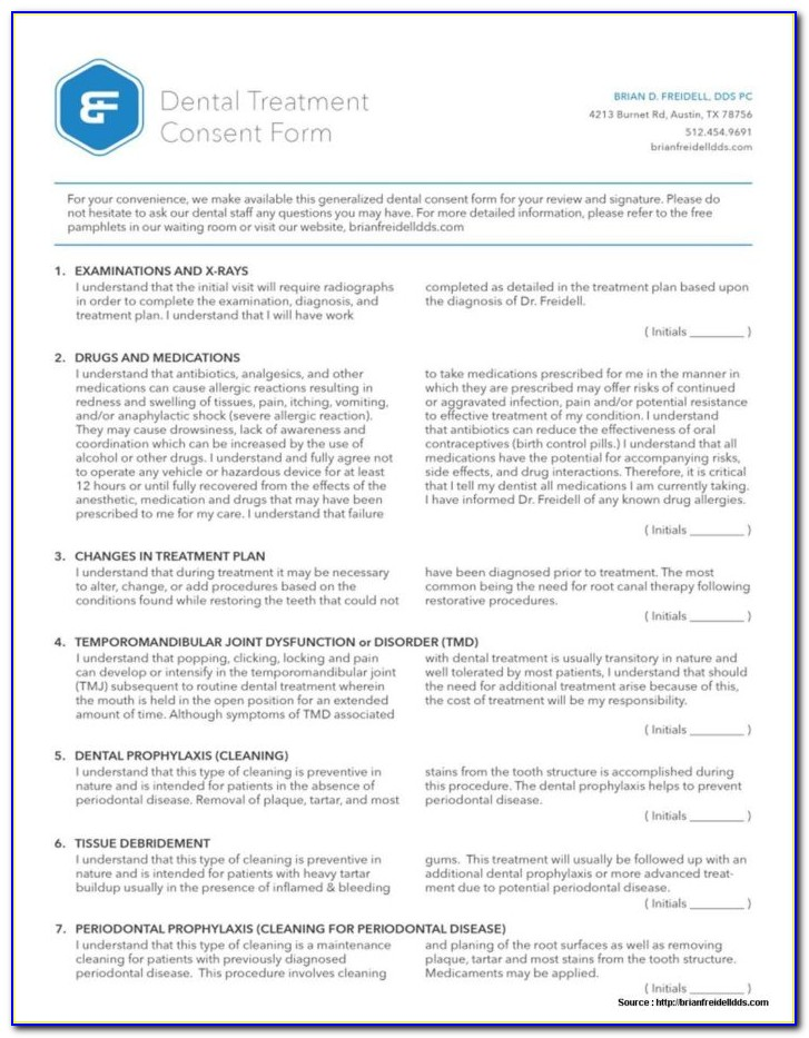 Dental Consent Forms In Spanish Vincegray2014