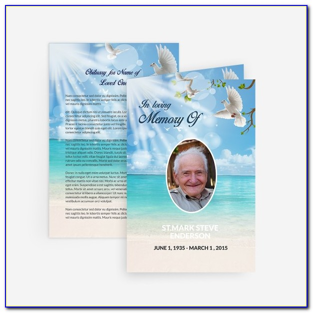 Free Double Sided Memorial Card Template