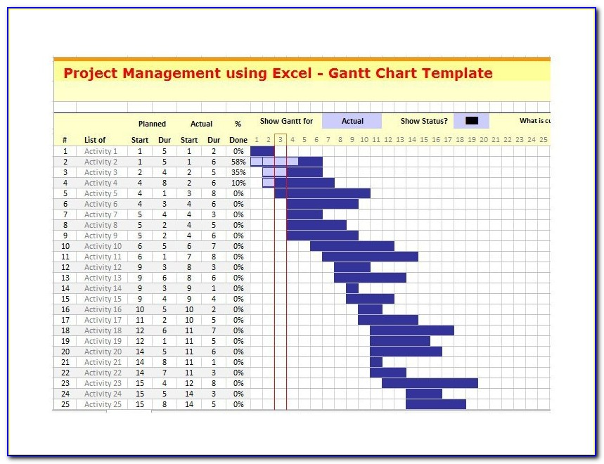 Free Download Gantt Chart Template For Powerpoint