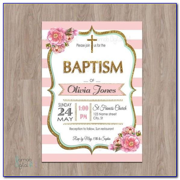 Free Download Invitation Templates For Baptism