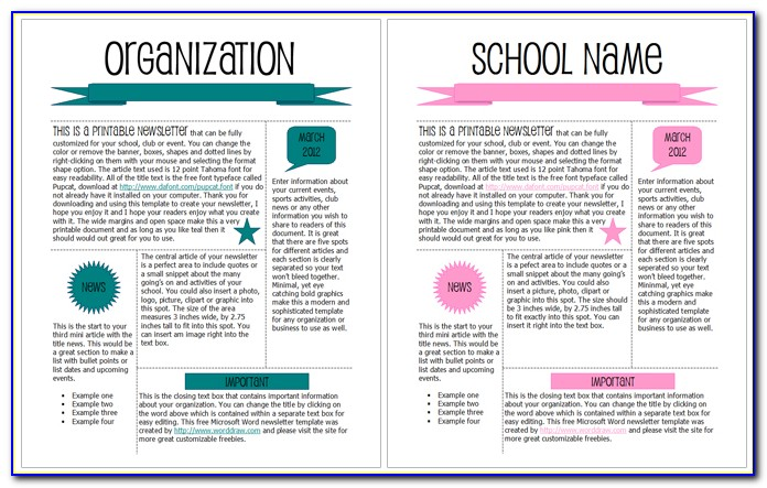 Free Download Professional Newsletter Templates