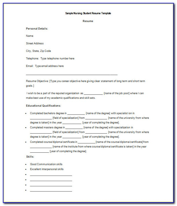 Free Download Resume Format Freshers Ms Word