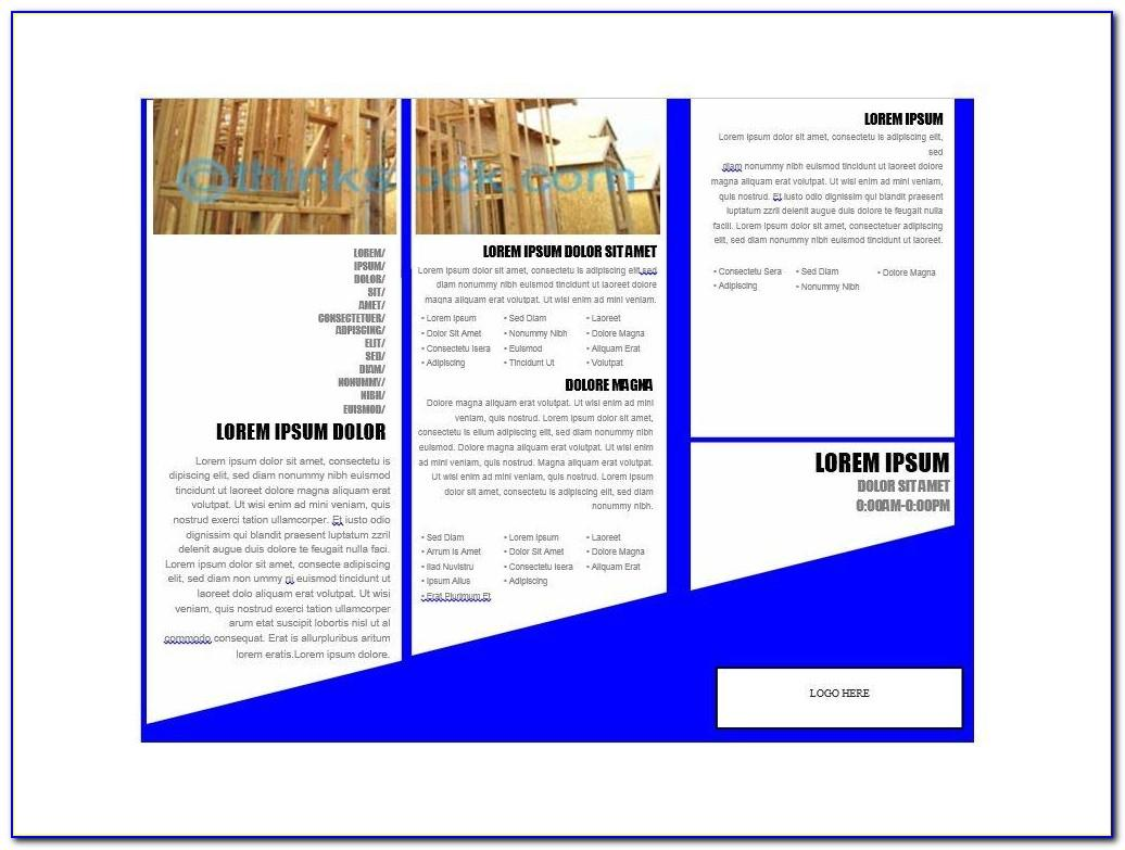 Free Downloadable Brochure Templates For Microsoft Word