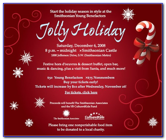 Free Downloadable Holiday Party Invitation Templates