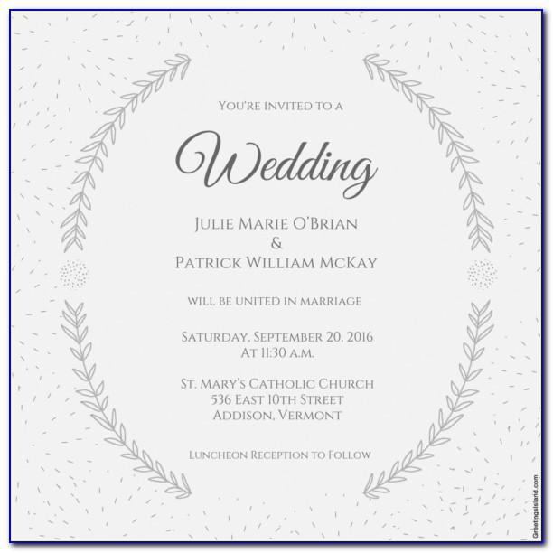 Free Downloadable Wedding Invitation Templates For Word
