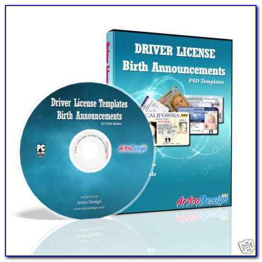 Free Drivers License Template Software