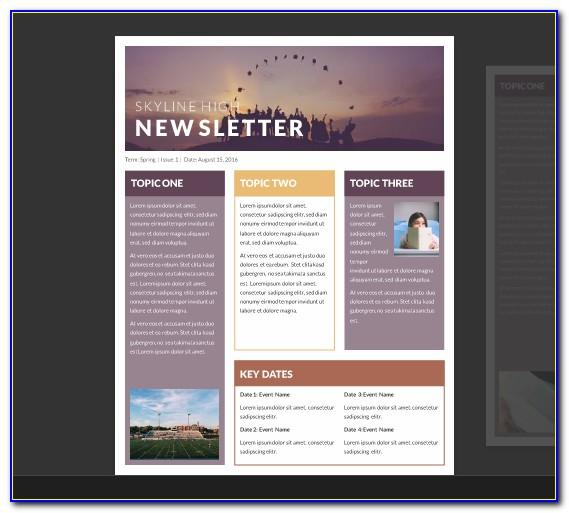 Free E Newsletter Templates For Microsoft Word