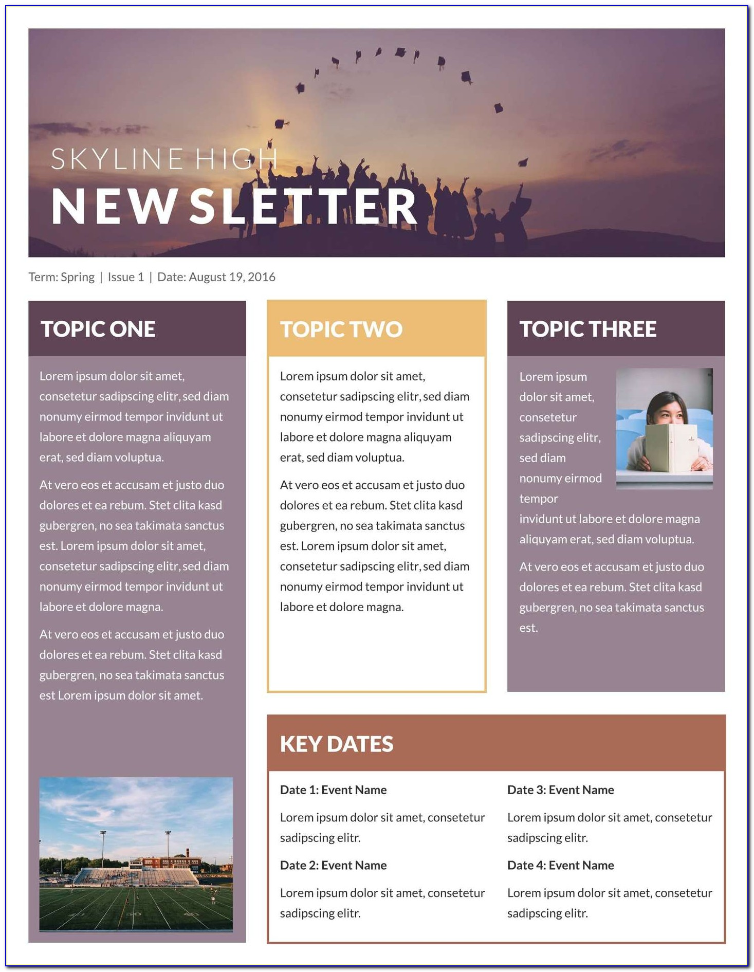 Free Editable Newsletter Templates For Publisher