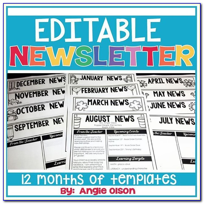 Free Editable Newsletter Templates For Word