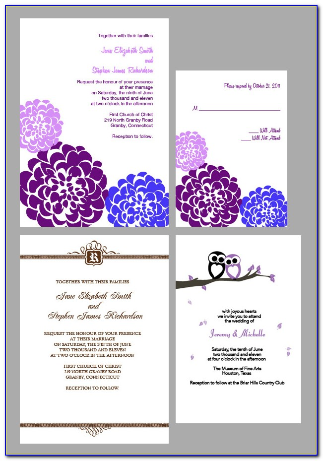 Free Editable Rustic Wedding Invitation Templates