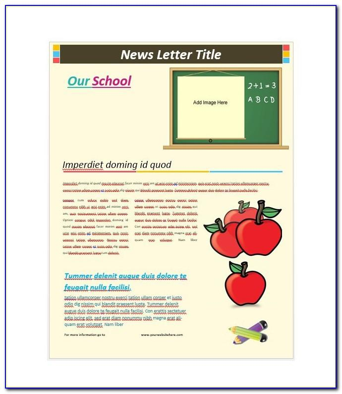 Free Editable School Newsletter Templates